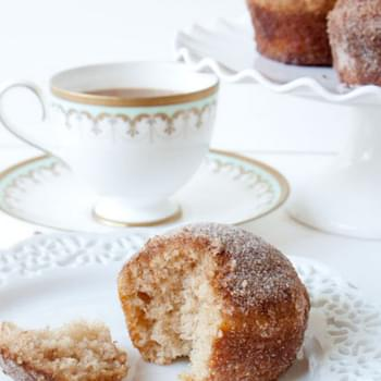Cinnamon-Sugar Crusted Coffee Cake Muffins