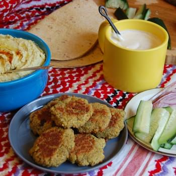 Baked Falafel with Yogurt Tahini Sauce