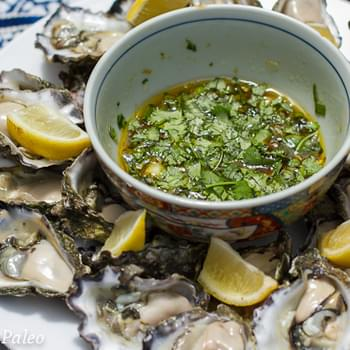 Oysters with Zesty Vietnamese Dressing