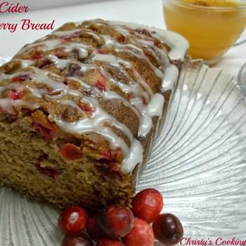 Apple Cider Cranberry Bread