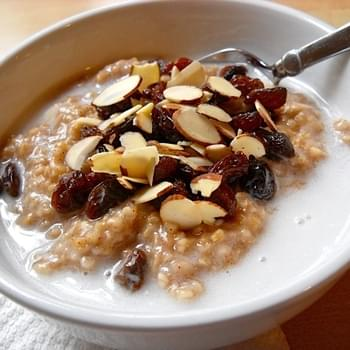 Indian Spiced Oats W/ Coconut Milk