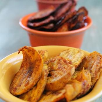 Baked Plantain Chips (x3)