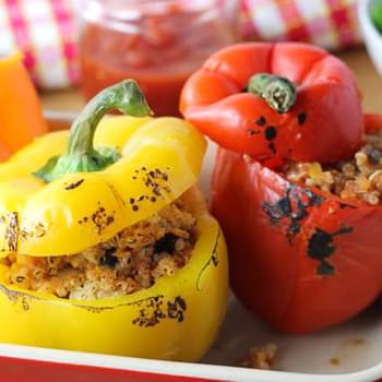 QUINOA AND BLACK BEAN STUFFED PEPPERS