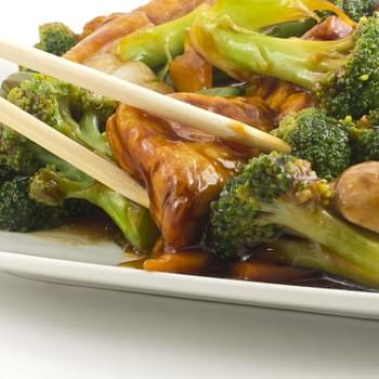 Tofu Stir Fry with Broccoli and Mushroom