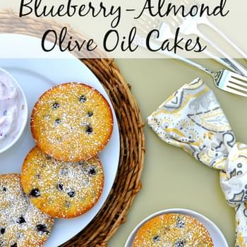 Gluten Free Blueberry-Almond Olive Oil Cakes