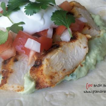 Grilled Chicken Soft Tacos With Avocado Cream