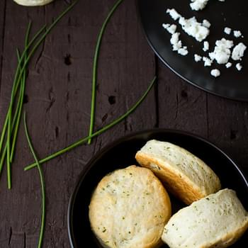 Goat Cheese and Chive Biscuits
