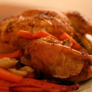 Roasted Chicken with Carrots