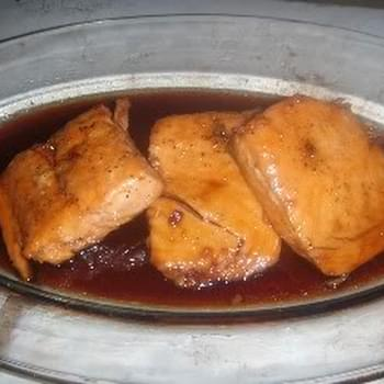 Sweet n' Spicy Honey Baked Salmon