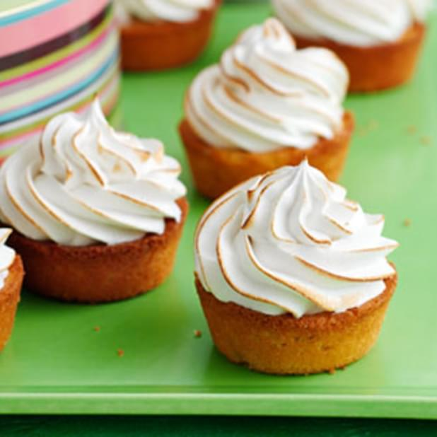 Little Lime Meringue Cakes