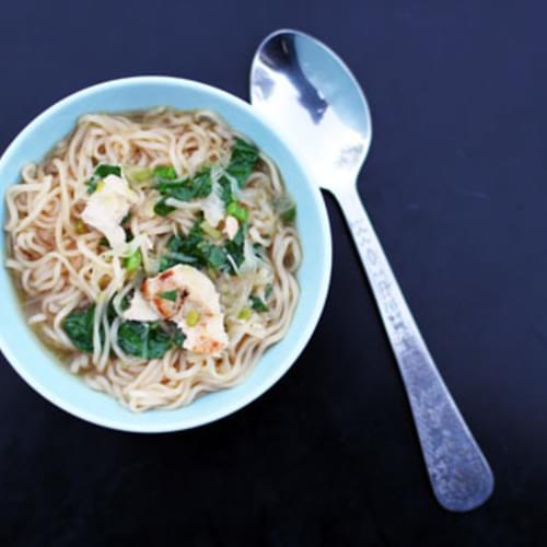Easy Asian Chicken Noodle Soup (a.k.a. Homemade Ramen)