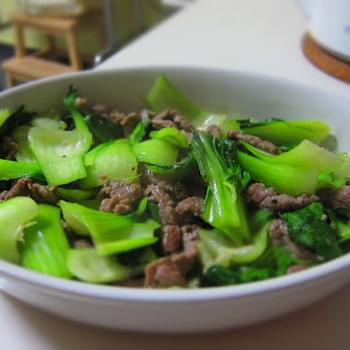 Stir Fry Beef and Baby Bok Choy
