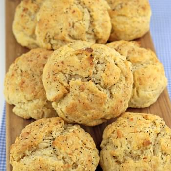 Parmesan & Black Pepper Drop Biscuits