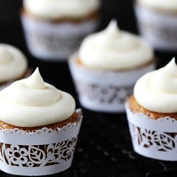 Spiced Butternut Squash Cupcakes with Maple Cream Cheese Frosting