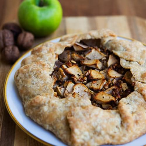 Apple Walnut Gorgonzola Rustic Tart