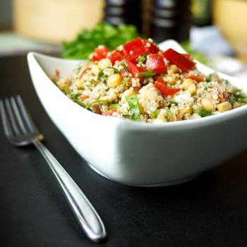Sorrel, Chickpea, Red Pepper & Quinoa Tabbouleh