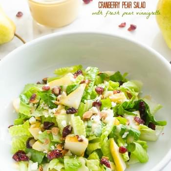 Cranberry Pear Salad with Fresh Pear Vinaigrette and a $500 Giveaway!