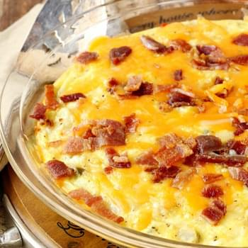 Baked Potato Bacon Egg Breakfast Skillet
