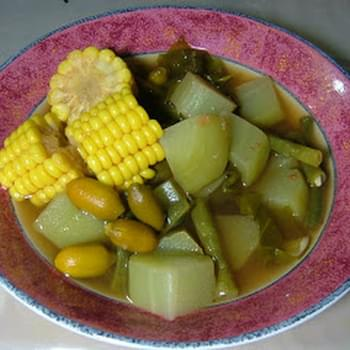 Sayur Asem / Asam (Mixed Vegetable Soup With Peanuts)
