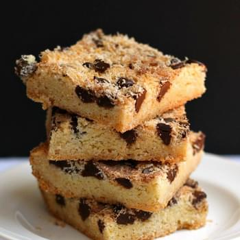 Coconut Chocolate Snickerdoodle Bars