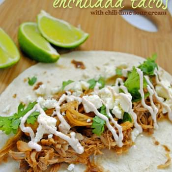 Slow Cooker Enchilada Tacos