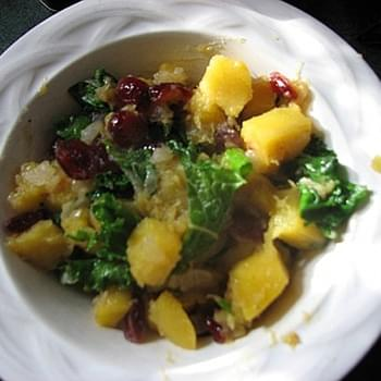 Cranberry, Squash, and Kale Bowl