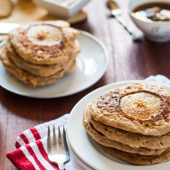 Brown Butter Pear Spiced Pancakes