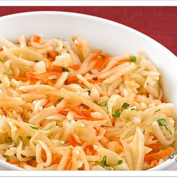 Shredded Turnip, Apple and Carrot Salad
