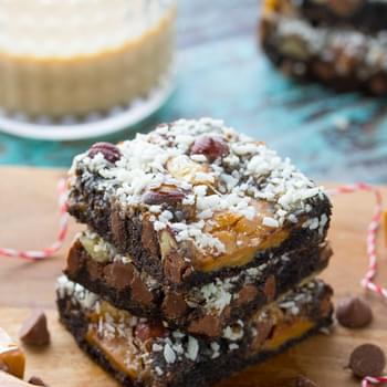 Chocolate Hazelnut Baileys Magic Cookie Bars