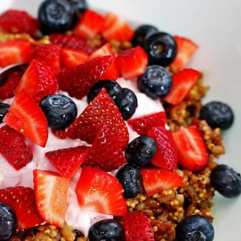 Wheat Berry Grain Salad with Fresh Fruit