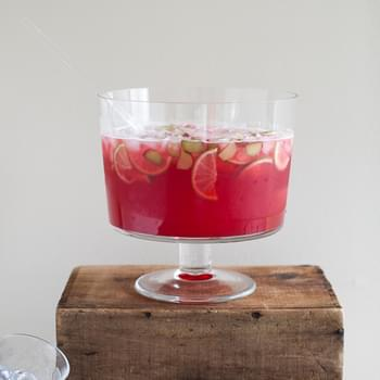 Raspberry-Rhubarb Collins Party Punch
