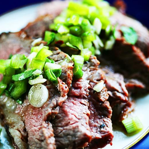 Grilled Tri-Tip Steak with Bell Pepper Salsa