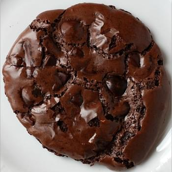 Chewy Gooey Flourless Chocolate Cookies