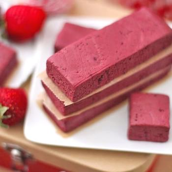 Healthy Red Velvet Fudge Bites and Healthy Red Velvet Fudge Protein Bars