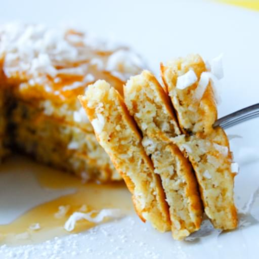 Meyer Lemon Coconut Pancakes