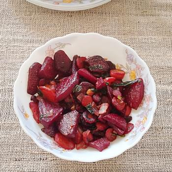 Stir fry beets and carrots recipe – A delicious recipe of beets and carrots stir fried in coconut oil