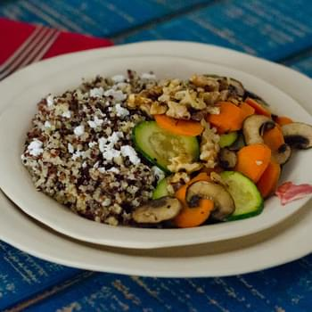 Lemony Herbed Quinoa with Sauteed Vegetables
