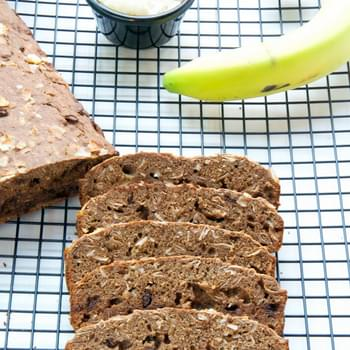 Gluten Free Coconut Chocolate Banana Protein Bread