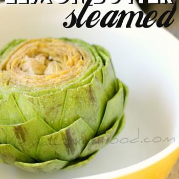 Lemon Butter Steamed Artichoke in Ten Minutes!