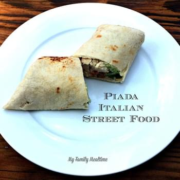 Chicken Piada an Italian Street Food