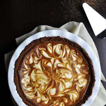 Marble Sweet Potato Pie with Cream Cheese