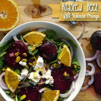 Roasted Beet Salad with Valencia Orange Dressing