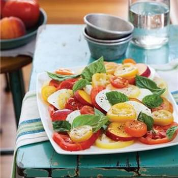 Peach and Heirloom Tomato Caprese Salad