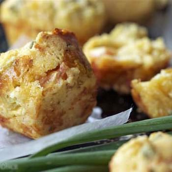 Tomato, Cheese and Onion Corn Muffins
