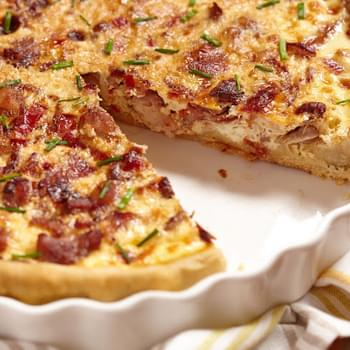 Chicken and Bacon Quiche