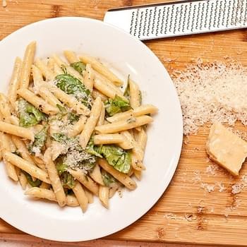 Penne with Parmesan, and Pepper