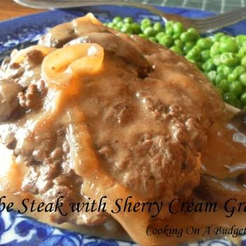 Cube Steak with Sherry Cream Gravy