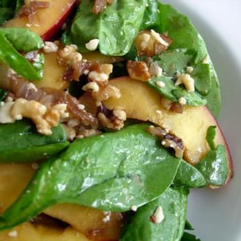 Spinach & Nectarine Salad For One (Measurements are approximate)