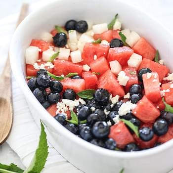 Red White and Blue Fruit Salad