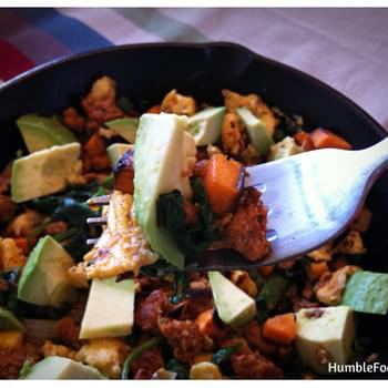 Spicy Green Skillet for Breakfast, Brunch, or Brinner